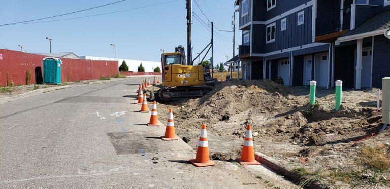 sidewalk excavation project